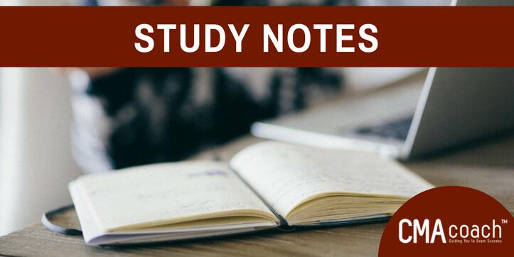 CMA Exam Study Notes