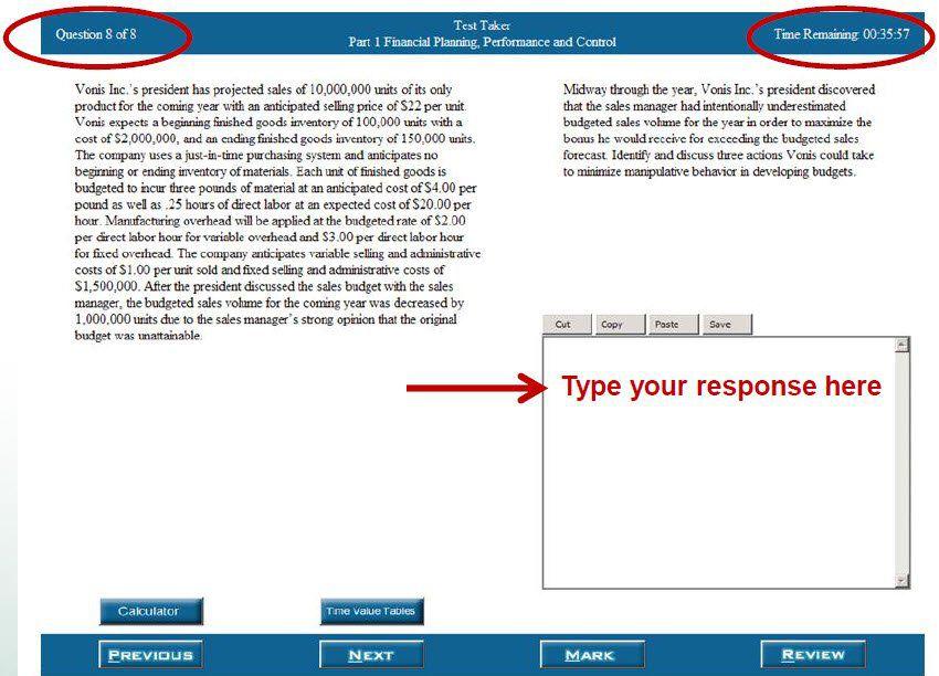 CMA Essay Sample Screenshot