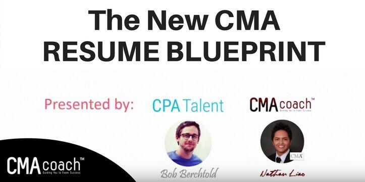 The New CMA Resume Blueprint