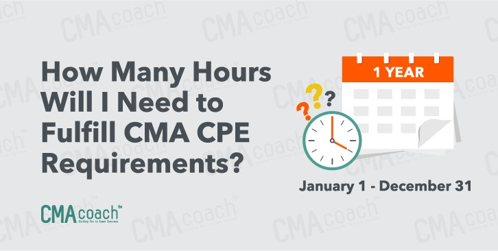 How many hours to fulfill CMA CPE requirements?