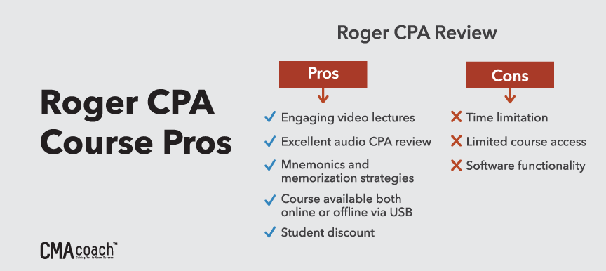 roger cpa course pros and cons