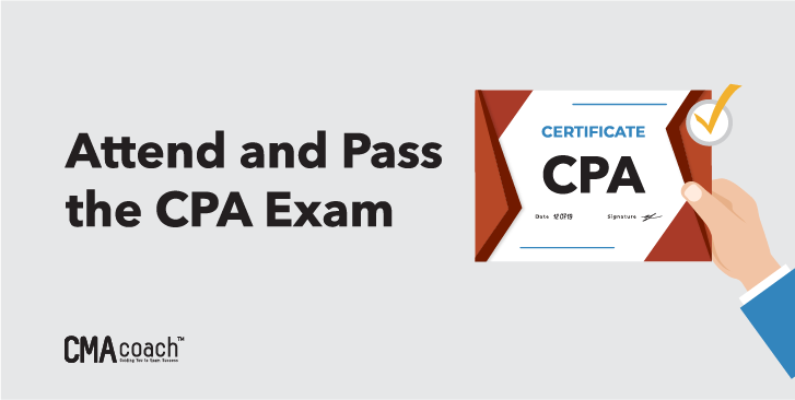 attend and pass the exam