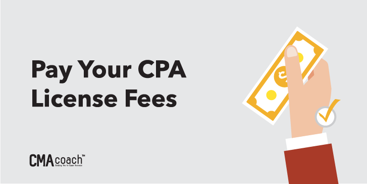 pay your cpa license fees