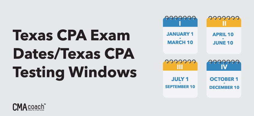 Texas CPA Exam Dates and Testing Windows