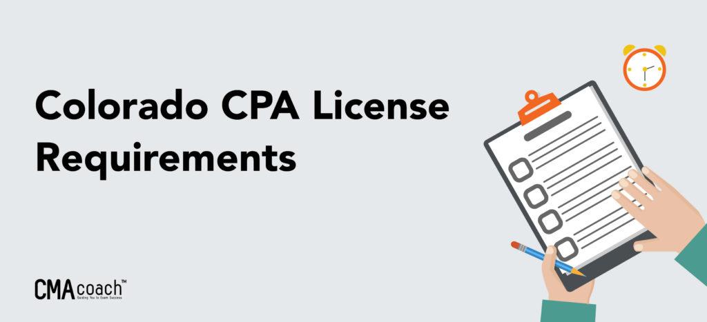 colorado cpa license requirements