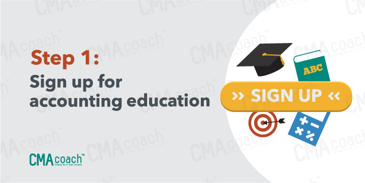 Sign up for accounting education