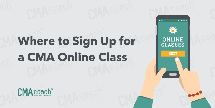 where to sign up for a cma online class